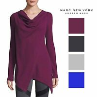 Andrew Marc Womens Performance Asymmetric Tunic Sweater