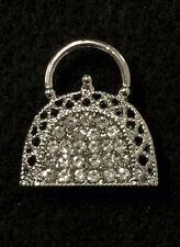 """1"""" Rhinestone Crystal Purse Handbag Clutch Brooch Pin Cake Scarf Decoration #56"""