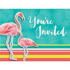 CLEARANCE Island Oasis Flamingo Invitations & Envelopes x 8