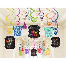 30 X Año Nuevo Colgante Remolino Decoración Fiesta Brillante Joya Colores -