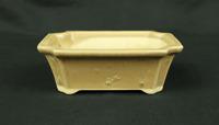 "盆栽鉢 Japanese Small Bonsai Pot Pottery 190g 4.8"" W x 1.7"" H x 3.6"" D V127"