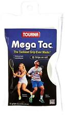 Tourna Mega Tac 10-XL Grips (103 cm x 29 mm) + Finishing Tape, White