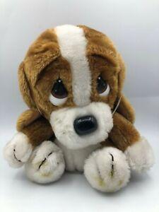 Vintage Applause 1982 Sad Sam Brown Puppy Dog Plush Soft Stuffed Toy Animal Doll