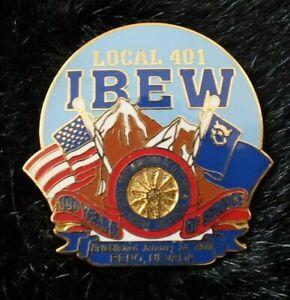IBEW Brotherhood Electrical Workers Lapel Pin Local 401 Reno, Nevada