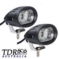 Pair - Motorcycle LED Driving Spotlight Spot Fog Head Light Lamps Bright White