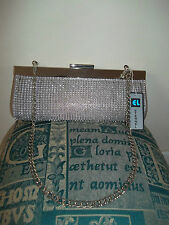 ETERNEL ... FAB CRYSTAL / GOLDEN BROWN EVENING / OCCASION 2 WAY BAG BNWT