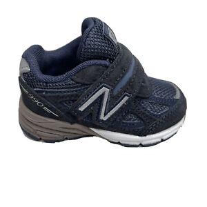 New Balance 990 Infant Shoes Boys Size 3 Blue Sneakers KV990NBI Hook Loop Strap