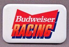 1990 Budweiser Racing rectangular pinback button hydroplane