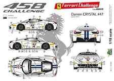 [FFSMC Productions] 1/18 Ferrari F458 Challenge Darren Crystal 2013 #47