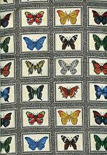 OOP! MAKOWER BUTTERFY SQUARES  COTTON FABRIC - BTY