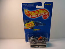 Hot Wheels Black Chrome Zombot w/ orange gun & uh wheels PKG# 224 dated 1991 MIP