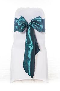 100 Hunter Garnet Taffeta Wedding Chair Cover Wedding Sash Bow UK
