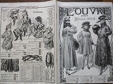"""CATALOGUE MODE """" AU LOUVRE """" HIVER 1917 - 1918"""