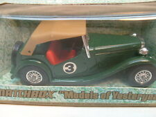 1977 MATCHBOX LESNEY MODELS OF YESTERYEAR 1:35 SCALE Y-8 GREEN 1945 MG TC MIB