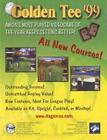 GOLDEN TEE 99 VIDEO ARCADE GAME FLYER BROCHURE 1999
