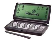HP 320LX Palmtop PC Micro Handheld Laptop + AC Adapter Windows CE Vintage