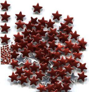 STARS Smooth Rhinestuds 6mm   Hot Fix..  RED 1 gross
