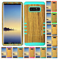 For Samsung Galaxy Note 8 - KoolKase Hybrid Silicone Cover Case - Wood Light