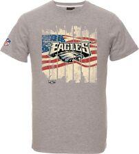 NFL Football T-Shirt PHILADELPHIA EAGLES grau USA Flagge von Majestic