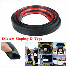 4Meter Sloping D Type Car Door Edge Rubber Weatherstrip Noise Sealing Strip Trim