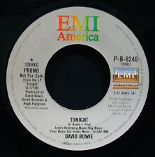 David Bowie~Tonight ✦ Near Mint Promotional 45~Emi P-B-8246 (Iggy Pop)
