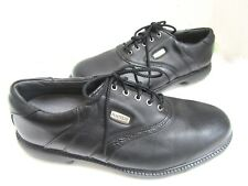 FootJoy SuperLites Super Lites Black Leather Golf Shoes Cleats 9W EXC 58064