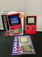 Nintendo GameBoy Color - console Rose pink Red Berry Boxed w/ Instructions USED