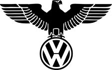 VW Iron Eagle Adesivo decalcomania in vinile VW t4 t5 CAMPER GOLF POLO PASSAT BEETLE EURO