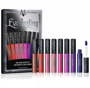 KAT VON D Everlasting Mini Liquid Lipstick SET of 8 LE Holiday 💯AUTHENTIC  BNIB