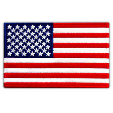 """VEGASBEE® AMERICAN BEST USA FLAG US EMBROIDERED PATCH IRON-ON EMBLEM 4"""" x 2.5"""""""