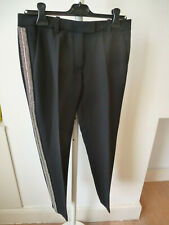 Barbara Bui black trosuers with silver embellishments 38 UK 10