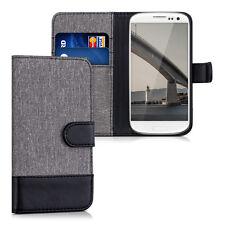 kwmobile Schutz Hülle Stoff für Samsung Galaxy S3 S3 Neo Grau Kunstleder Case