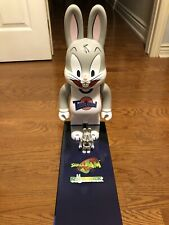 Authentic Space Jam Bugs Bunny 100 400% Set Medicom Be@rbrick Bearbrick R@bbric