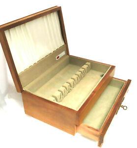 Wood Tarnish Resistant Silverware Flatware Storage Chest Box Wooden Drawer 6