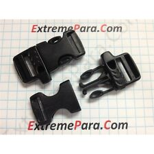 "eXtremePara.com - 5/8"" Whistle Buckles for Paracord Bracelets - Black - 100pk"