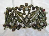 "HEIDI DAUS ""Seductive Fantasy"" 7-1/4""L.Crystal/Carnelian Bracelet (Orig.$239.95)"