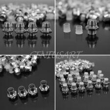 50Pcs 5mm Silver Tone Chrome Metal LED Bezel Holder Panel Display Accessory New
