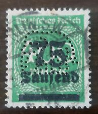 GERMANY STAMP Rare Cancel Elephant Perforated cancel hyper inflation