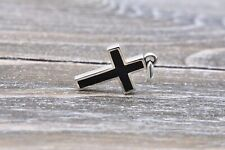David Yurman Sterling Silver Black Onyx Cross Pendant