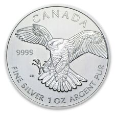 1 oz 2014 Birds of Prey Series .. Peregrine Falcon Silver Coin