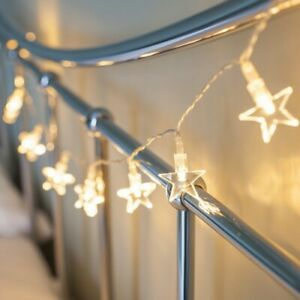 Star Fairy String Lights – 10 LED Indoor Battery Powered Hanging Lamp Warm White