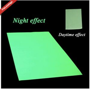 A4 Sheet GLOW IN THE DARK Self Adhesive Sign Making Vinyl Stickers Peel Stick