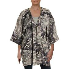 Elizabeth and James Womens Ivory Jacquard Night Out Kimono Top O/S BHFO 7744