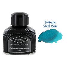 Diamine Fountain Pen Bottled Ink, 80ml - Steel Blue