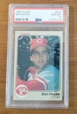 1983 Fleer Ben Hayes #591 PSA 10 Cincinnati Reds POP 11