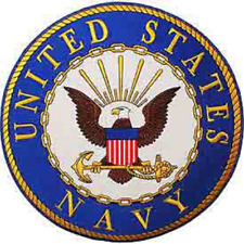 """US NAVY  """"UNITED STATES NAVY""""   PATCH  Iron / Sew-on Patch  12 inch Round patch"""