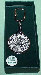 Vintage 1984 Los Angeles Olympic Key Chain Pewter Medallion
