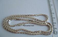 New 925 Sterling Silver heavy box Chain 20ins necklace.