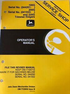 OM John Deere 100G, 200G, 220G Trimmer/Edgers Issue I6 (C)