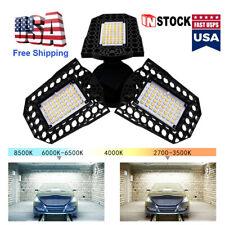 E27 80W LED Garage Light Bulb Deformable Ceiling Fixture Lights Workshop Lamp US